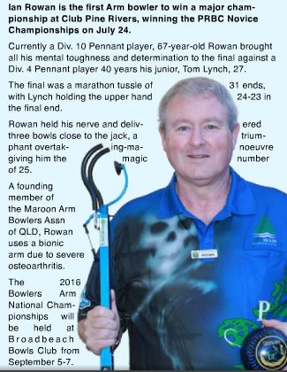Ian Rowan Minor Champion Pine Rivers