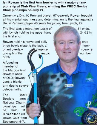 Ian Rowan Minor Champion Pine Rivers