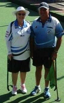 Bronze Winner Mal Adams with Pam Martin