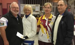 Runners up from left.....Gail Karron from Urangan, Hilda Schmidt from Bundaberg, and Dave Mitchell from Bundaberg