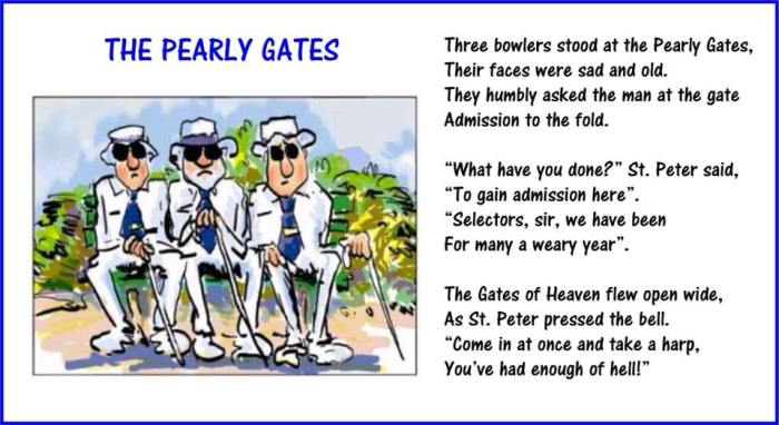 Selection & pearly gates