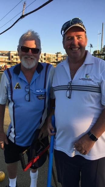 Dixon, Peter and Pairs pt at Bendigo Disability bowls 20 Ap '18
