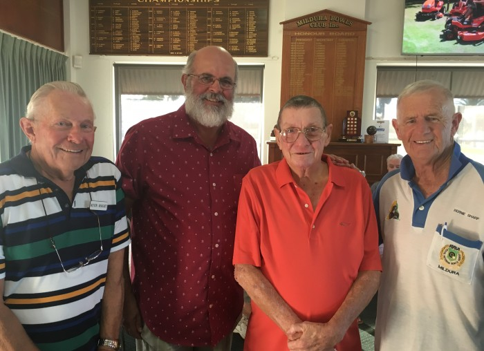 Mildura, Kevin Knight, John Nicholas, Mike Menz, trophy donor and Bernie Sharp