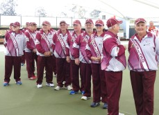 Team, Maroon Arm Bowlers Q'ld.