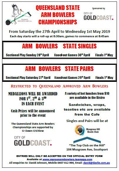 Qld State Arm Bowler C'ships Pic.