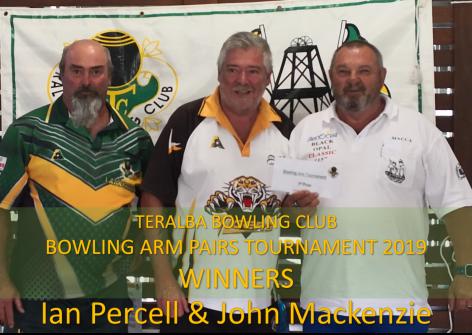 Winners TBC Bowling arm Pairs 2019