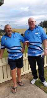 Woomeras Macca & Manager Greg Molyneux — with John Mackenzie.