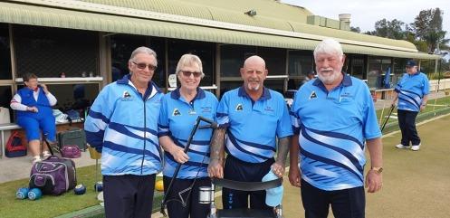 Woomeras Our 4's team Stan Wrzeczycki, Pam Stephanis, Ron Mowday & Max Wilton. We won 34-6
